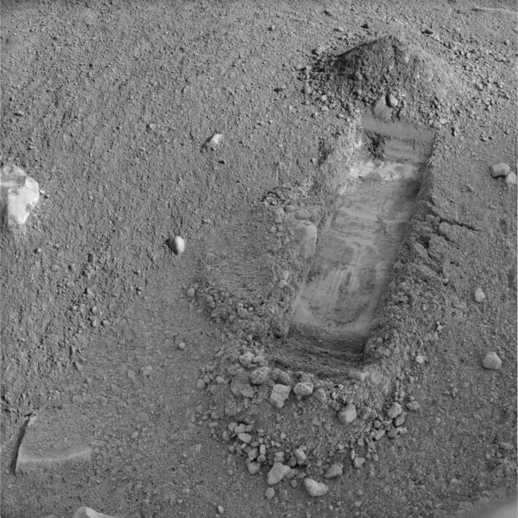 La tranchée Snow White, Phoenix (Mars)