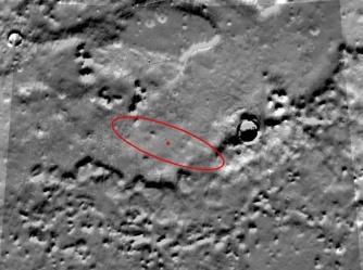 Vue Mars Global Surveyor de l'ellipse ou devait se poser Phoenix