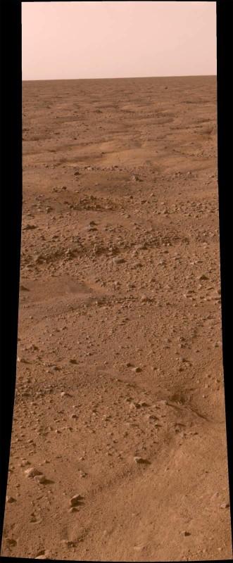 Mars: panorama de la région où s'est posée la sonde Phoenix