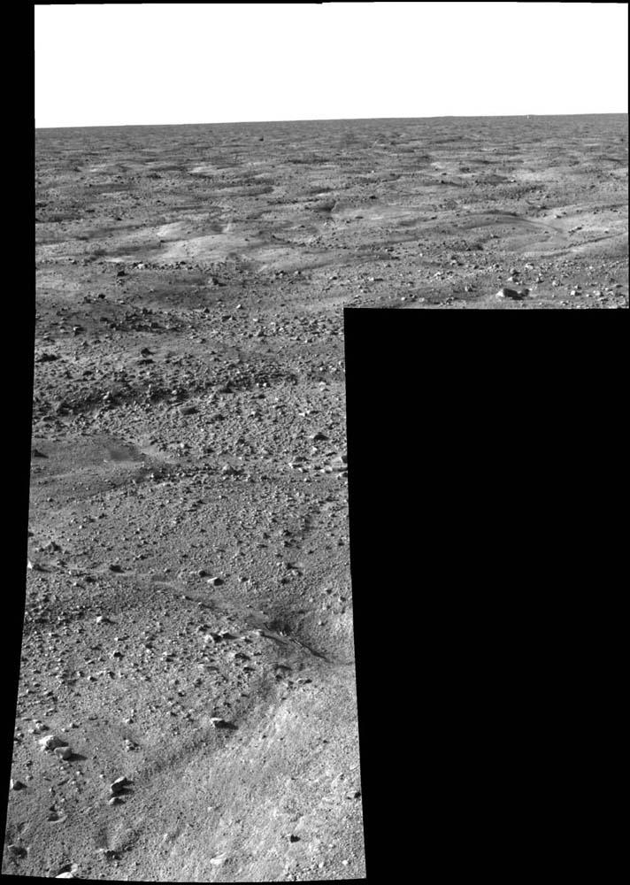 Mars: mosaïque montrant le paysage autour de Phoenix le plus étendu publié par la Nasa le 27 mai 2008 au matin