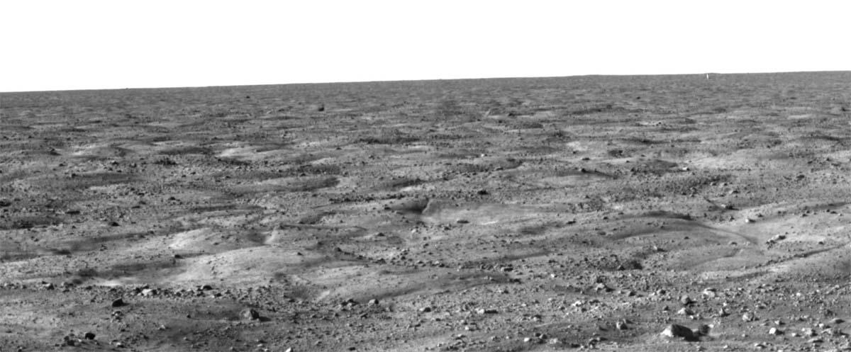 Mars: l'horizon près de Phoenix, des polygones à perte de vue
