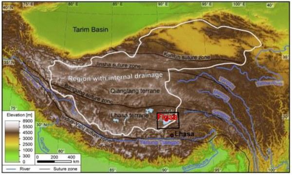 Drainage interne et externe du plateau du Tibet