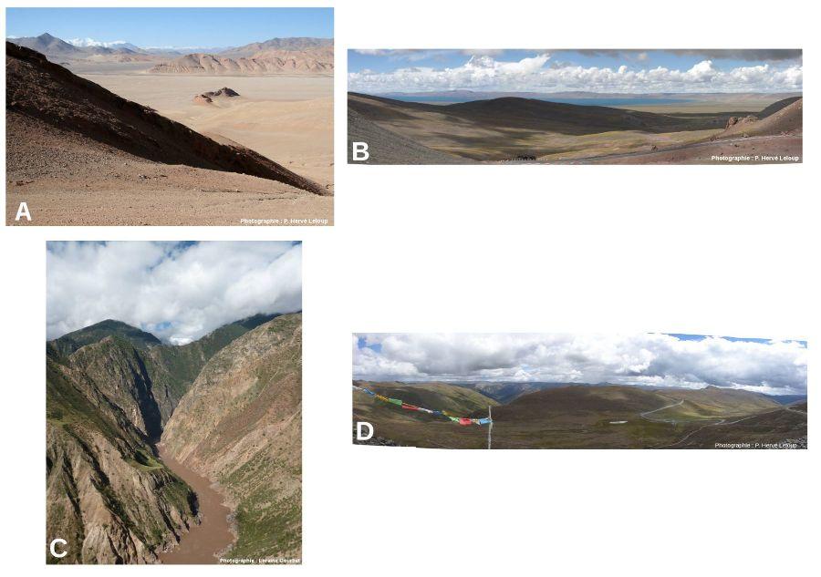 Diversité des paysages et morphologies du plateau du Tibet
