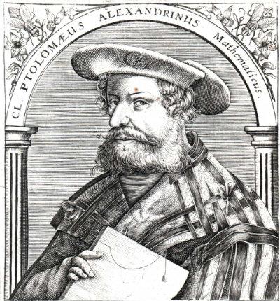 Représentation de Ptolémée, gravure allemande du XVIème siècle