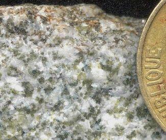 Détail d'un marbre à olivine
