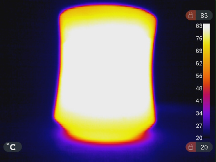 La tasse chaude en infrarouge (IR)