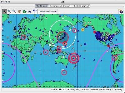 Carte de localisation des séismes récents avec le logiciel GEE