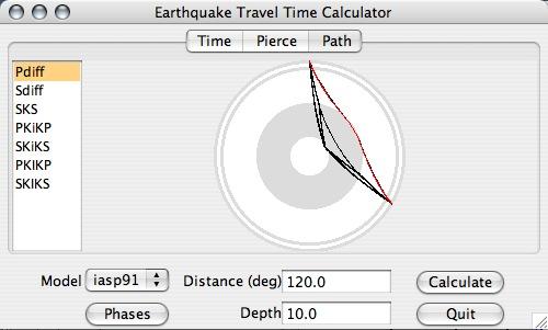 Module de calcul des temps de trajet des ondes de GEE