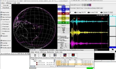 Utilisation du logiciel Quake Explorer