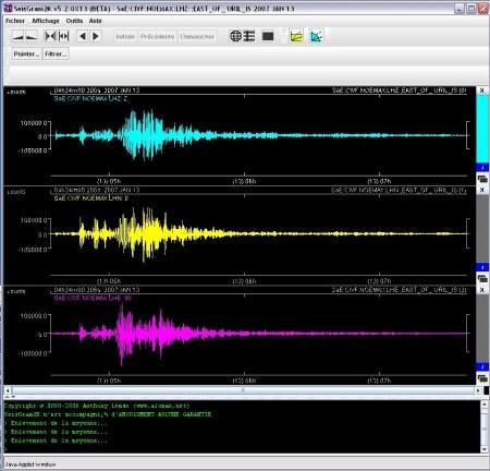 """Visualisation de données sismiques dans SeisGram2K (version """"École"""")"""