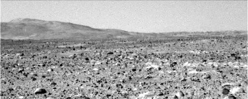 Les Columbia Hills prises à 680m depuis la plaine