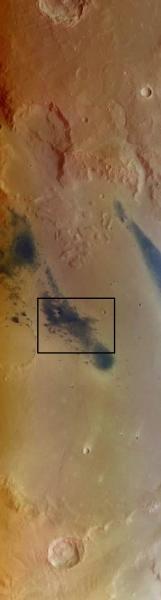 Région du cratère Gusev vue par Marx Express