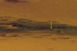 Détail en vue oblique d'une partie du cratère Gusev