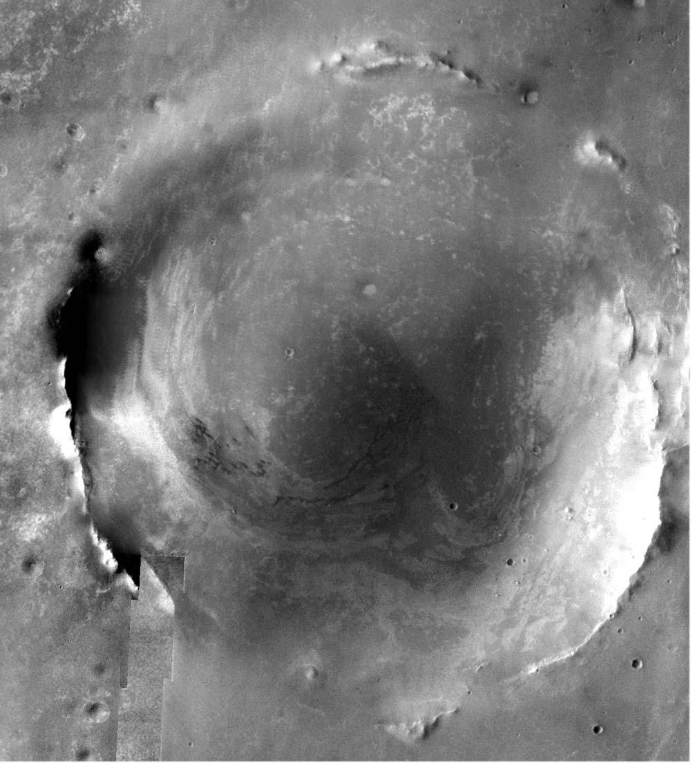 Mars: le cratère Endeavour, prochain objectif d'Opportunity, situé à 12km du cratère Victoria