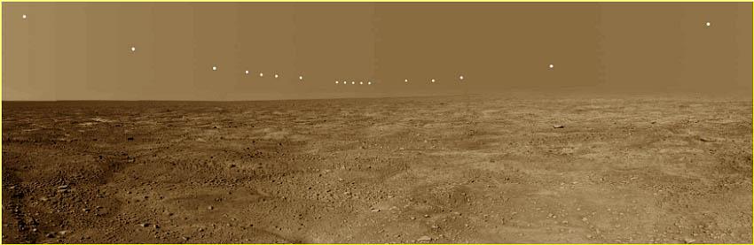 Soleil de minuit sur Mars