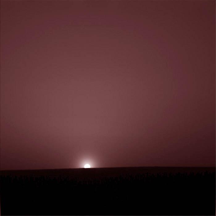 Coucher de soleil sur Mars, vu par Phoenix, 26 août 2008