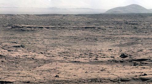 Le paysage près du site d'atterrissage de Curiosity