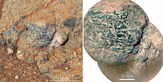 Harrison, un galet martien constitué d'une roche magmatique