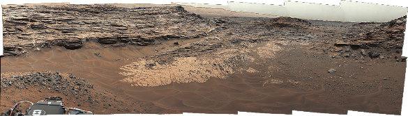 Contact entre deux unités de terrains martiens
