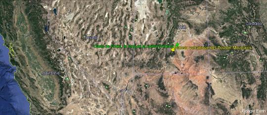 Localisation des principaux lieux mentionnés dans le secteur Ouest du Parc national de Capitol Reef (Utah)