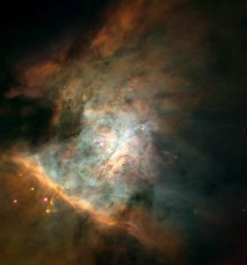 Vue du centre de la nébuleuse d'Orion