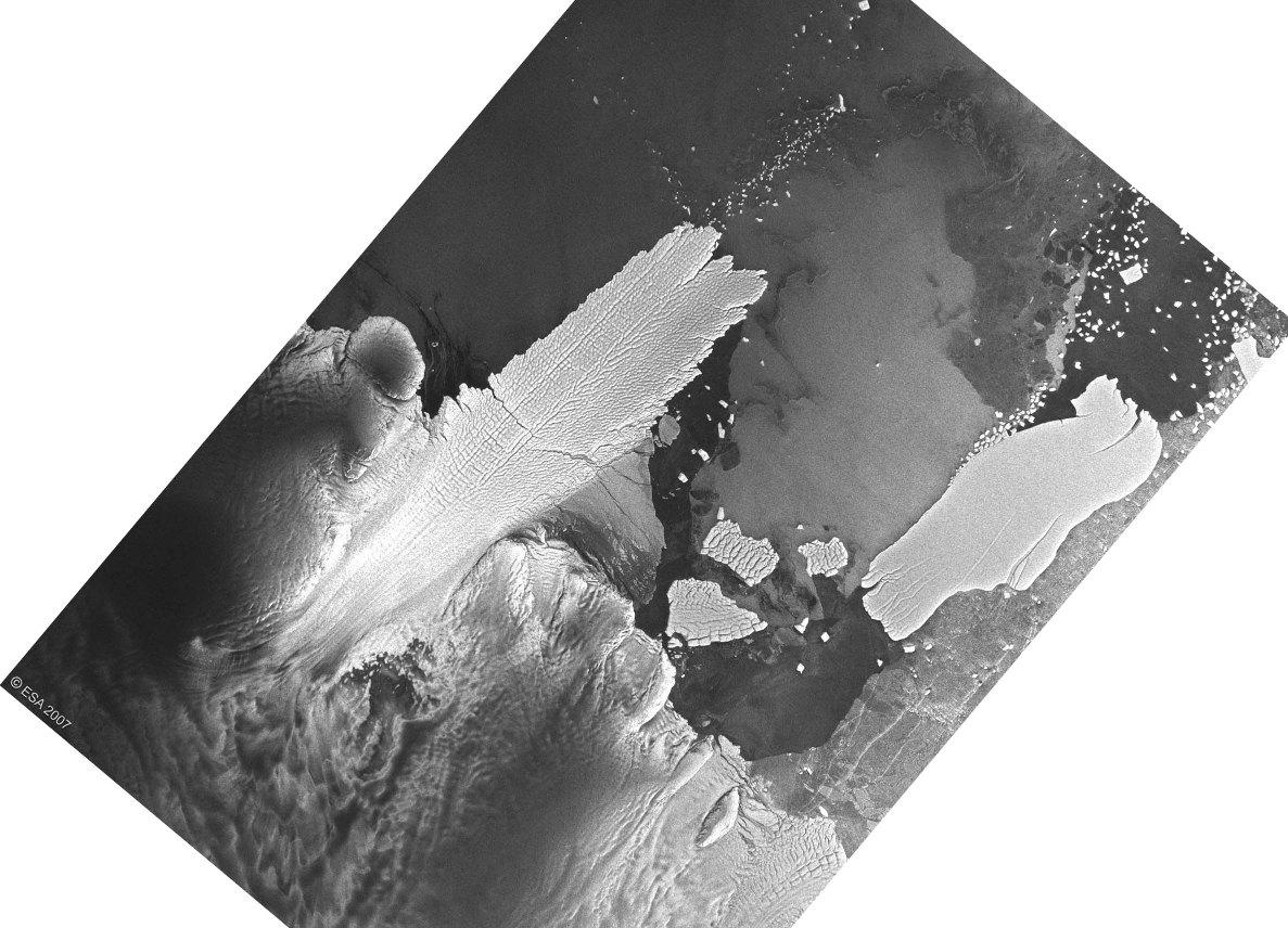 Image satellite radar ESA/Envisat prise en 2007