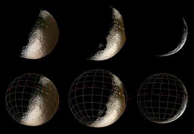 Japet vu par Cassini en octobre 2004