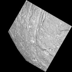 Détail du Sud d'Ithaca Chasma sur Téthys