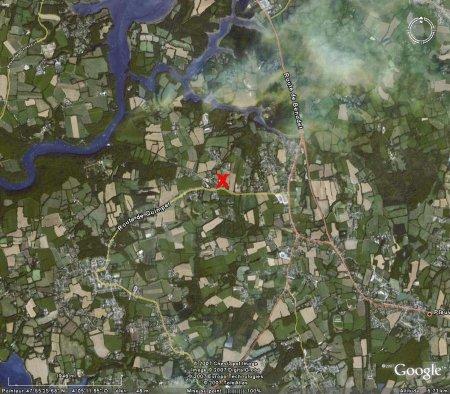 Localisation du granite, vue aérienne