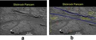 Observation de 3 unités stratigraphiques dans la région nommée Slickrock, avec interprétation