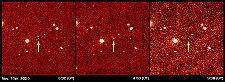 Un nouvel objet photographié le 14 novembre 2003 au Mont Palomar (USA)