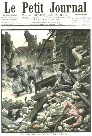 Couverture du Petit Journal relatant le séisme de Lambesc du 11 juin 1909