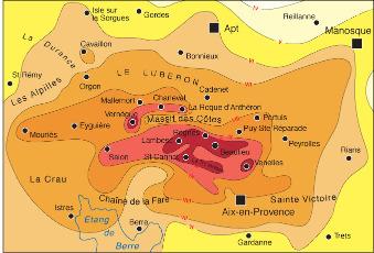 Carte des isoséistes du tremblement de terre de Lambesc de juin 1909