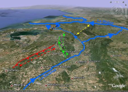 Modifications du réseau hydrographique en Provence au Quaternaire récent