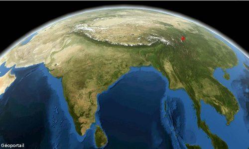 Vue générale de l'Asie