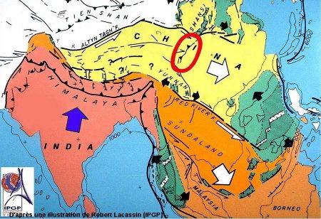 Contexte géodynamique régional de l'Asie du Sud-Est - Inde - Himalaya