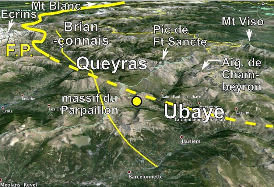 Contexte géographique du séisme de l'Ubaye du 7 avril 2014