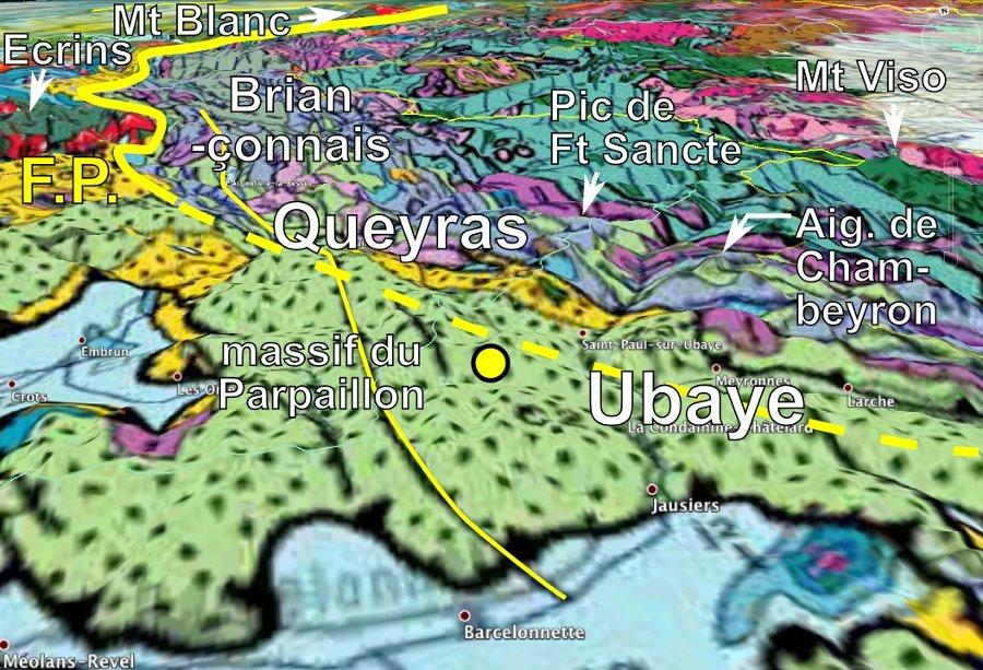 Contexte géologique du séisme de l'Ubaye du 7 avril 2014