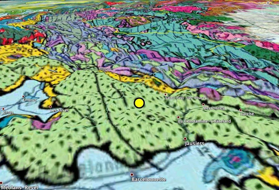 Localisation géologique du séisme de l'Ubaye du 7 avril 2014