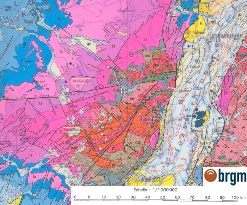 Carte de localisation géologique