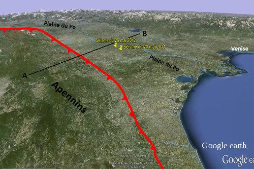 Contexte tectonique des tremblements de terre des 20 et 29 mai 2012 en Italie du Nord
