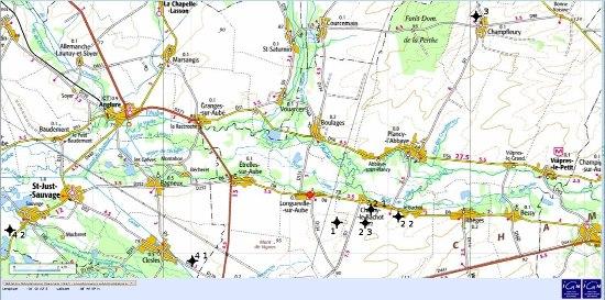 Localisation des sites d'étude