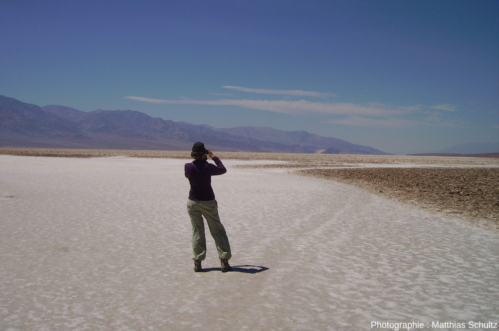 Playa à Badwater, Vallée de la Mort (Californie)