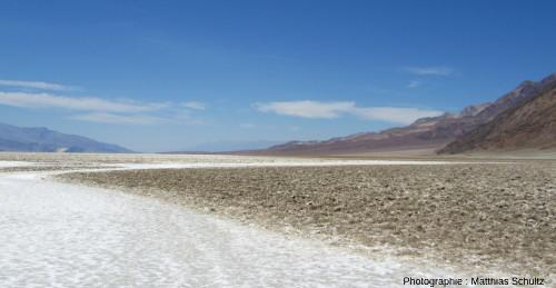 Playa à Badwater, Death Valley (Californie)