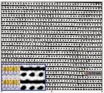 Micrographie MET haute résolution d'une lizardite, serpentine organisée en feuillets dont le pas de répétition est de 0,72nm