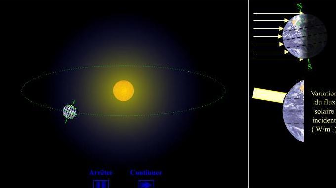 Animation interactive L'alternance des saisons