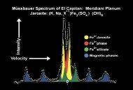"Spectre Moessbauer de l'échantillon martien ""El Capitan"""