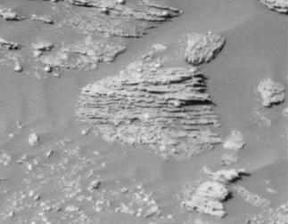 Stratifications obliques sur Mars