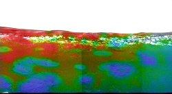 Image représentant l'abondance de l'hématite dans le paysage martien