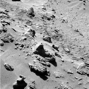 Blocs rocheux présentant des stratifications